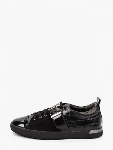 Велюровые черные кроссовки Pazolini