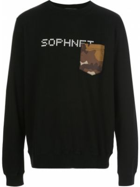 Черная толстовка Sophnet.