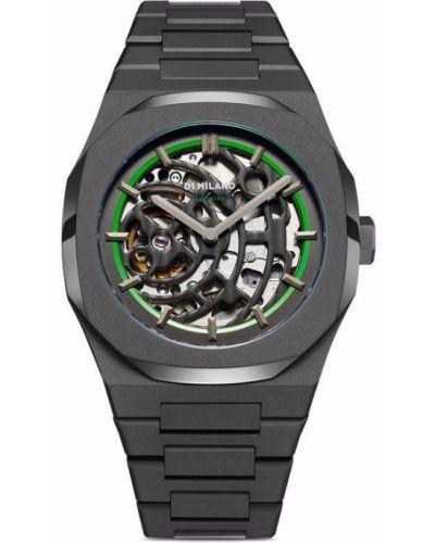 Часы прозрачные - зеленые D1 Milano