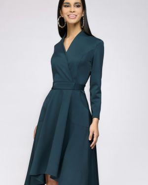 Повседневное платье с запахом с поясом 1001 Dress