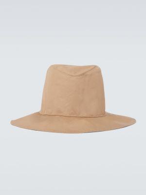 Beżowy kapelusz bawełniany z haftem Undercover