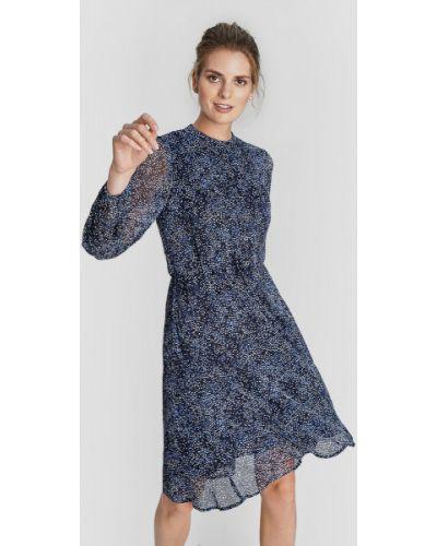 Приталенное шифоновое платье с V-образным вырезом на резинке Ostin