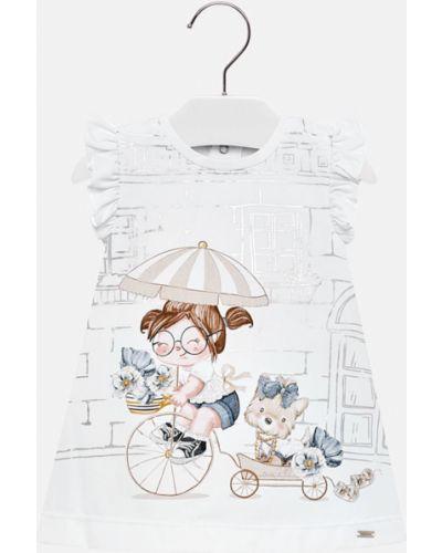 Платье с принтом хлопковое Mayoral