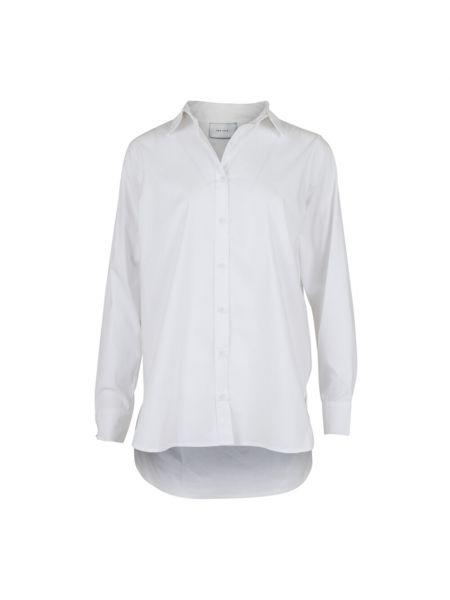 Biała koszula bawełniana z długimi rękawami Neo Noir