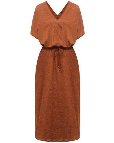 Льняное платье - коричневое Kiton