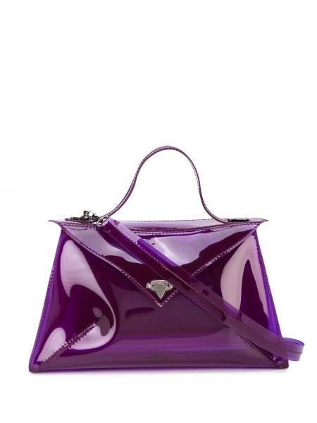 Фиолетовая сумка-тоут круглая Tyler Ellis