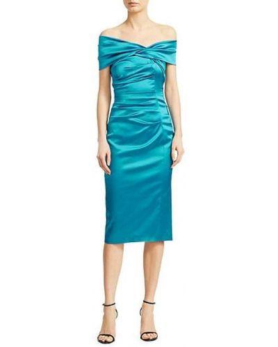 Вечернее платье с короткими рукавами с декольте с подкладкой Talbot Runhof