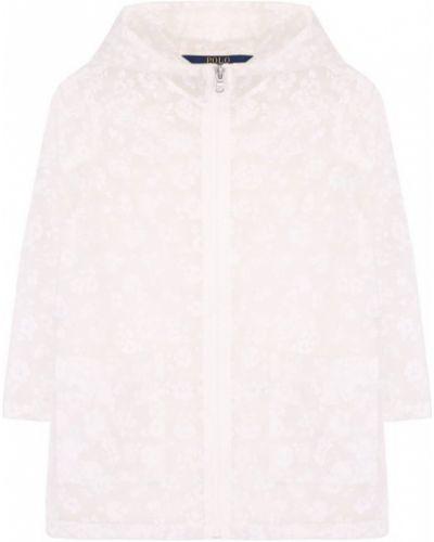 Дождевик на молнии белый Polo Ralph Lauren