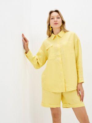 Желтая рубашка с длинными рукавами Unq