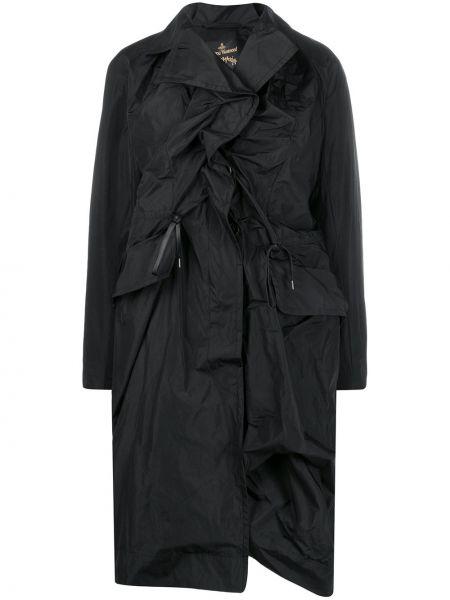 Черное пальто классическое с воротником Vivienne Westwood Anglomania