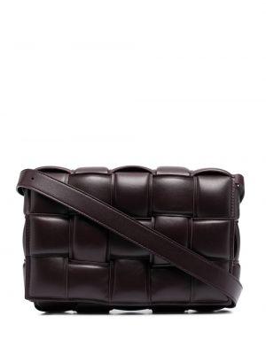 Фиолетовая кожаная сумка на плечо на молнии Bottega Veneta