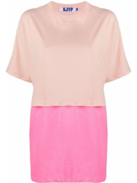 Różowy t-shirt bawełniany krótki rękaw Sjyp