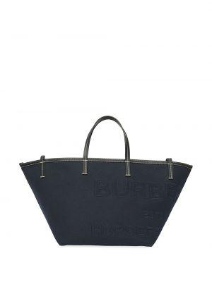 Czarna torebka z printem Burberry