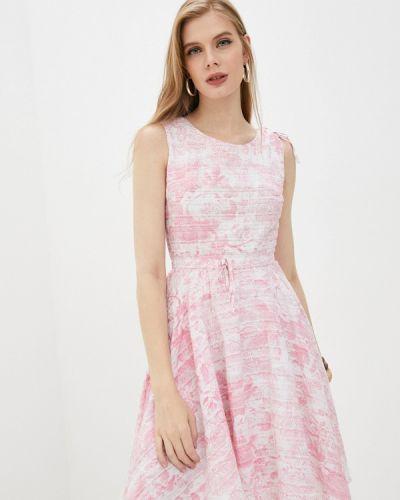 Розовое прямое платье Giorgio Di Mare