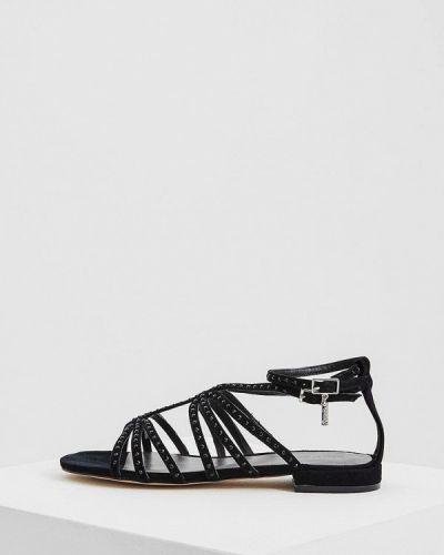 Черные сандалии замшевые Liu Jo