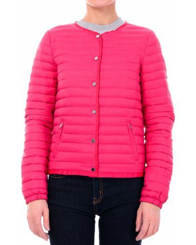 Розовый пуховик Armani Jeans