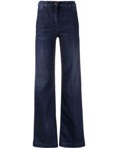 Расклешенные синие джинсы с высокой посадкой Jacob Cohen