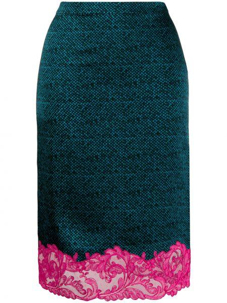 Spódnica maxi ołówkowa z nadrukiem Versace