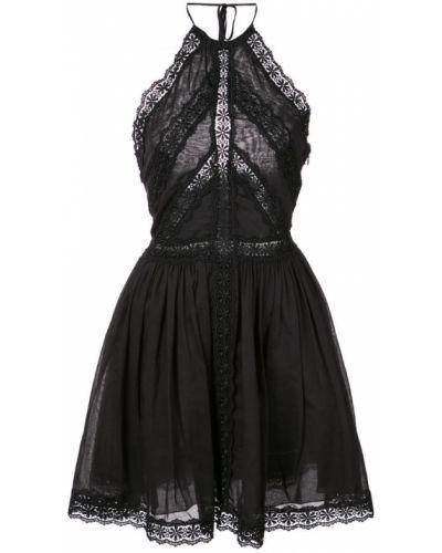 Платье мини с открытой спиной - черное Charo Ruiz