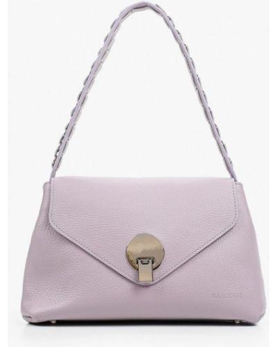 Фиолетовая кожаная сумка Basconi