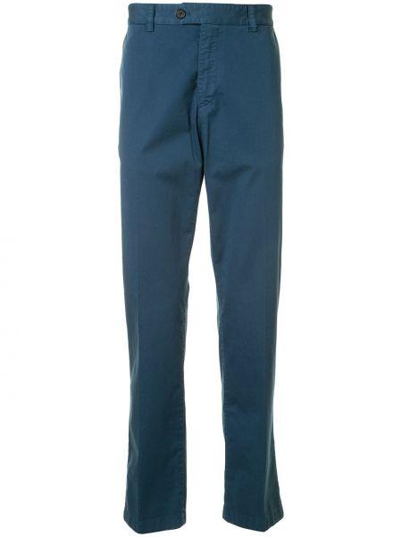 Niebieskie spodnie bawełniane z paskiem Gieves & Hawkes