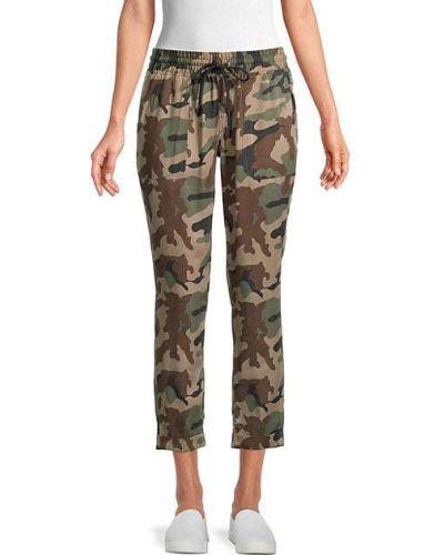 С кулиской укороченные брюки с карманами с заплатками True Religion
