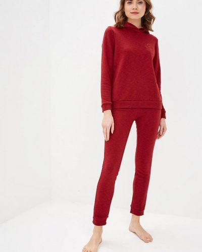 Домашний костюм бордовый красный Dianida