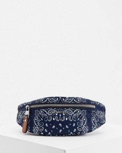 Текстильная поясная сумка - синяя Michael Kors