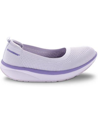 Кожаные балетки - фиолетовые Walkmaxx