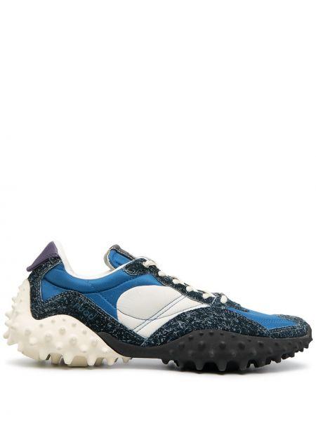 Skórzany biały skórzane sneakersy z kolcami na sznurowadłach Eytys