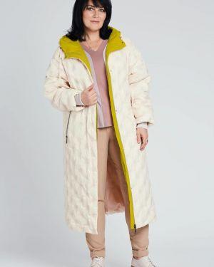 Пальто с капюшоном оверсайз на кнопках D`imma Fashion Studio