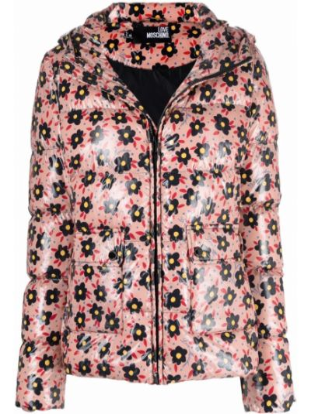 Розовая длинная куртка Love Moschino