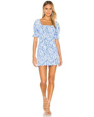 Платье мини шелковое с рукавами Faithfull The Brand