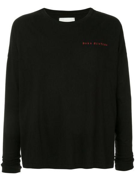 Czarny t-shirt z długimi rękawami bawełniany Siberia Hills