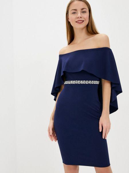 Вечернее платье синее весеннее City Goddess