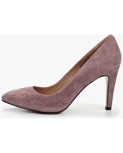Туфли-лодочки на каблуке велюровые Respect
