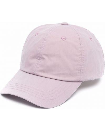 Fioletowa czapka bawełniana Acne Studios
