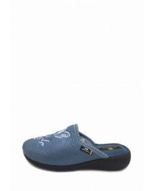 Текстильные тапочки - голубые Spesita