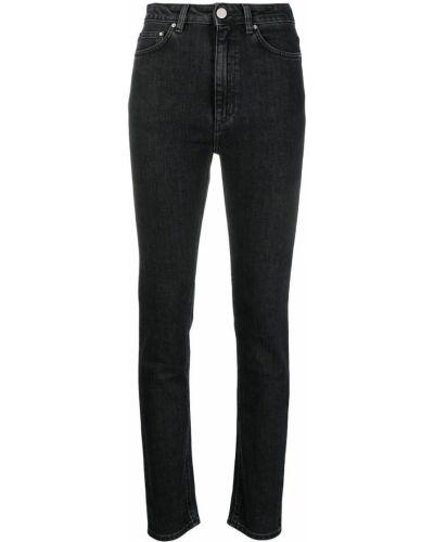 Klasyczne jeansy rurki z wysokim stanem bawełniane Toteme
