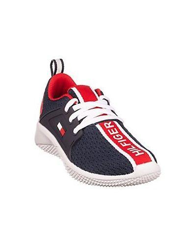 Sneakersy sznurowane koronkowe z siateczką Tommy Hilfiger