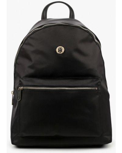 Текстильный городской черный рюкзак Tommy Hilfiger