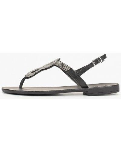 Черные сандалии Pieces