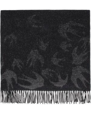 Пончо черный шерстяное Mcq Alexander Mcqueen