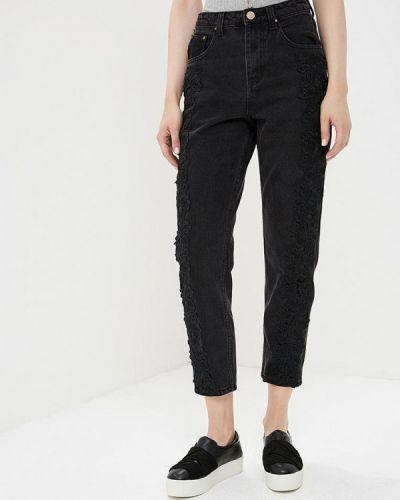Черные джинсы с высокой посадкой Lost Ink.