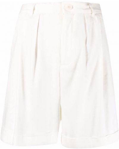 Льняные белые шорты с карманами Closed