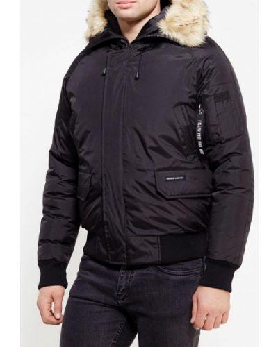 Утепленная куртка черная осенняя Paragoose