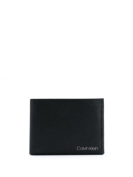 Кожаный черный кошелек Calvin Klein