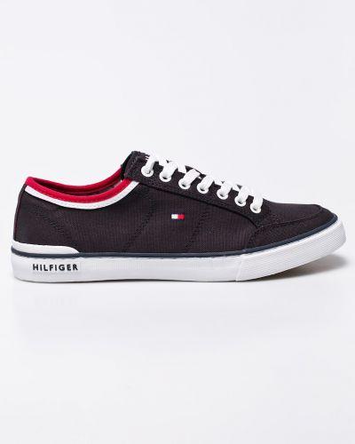 Темно-синие теннисные низкие кеды на шнуровке Tommy Hilfiger