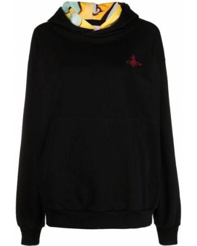 Черное худи с капюшоном с вышивкой Vivienne Westwood