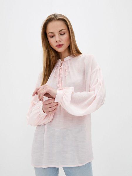 Розовая блузка с длинным рукавом Solou